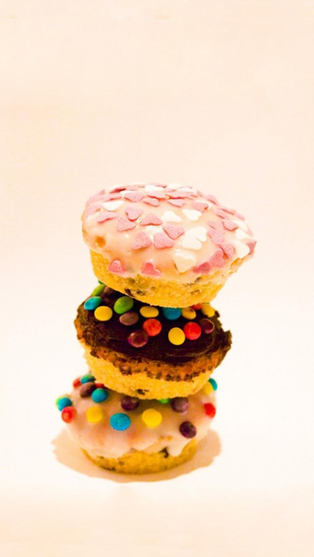 Delicious Colorful Cupcakes iPhone wallpaper
