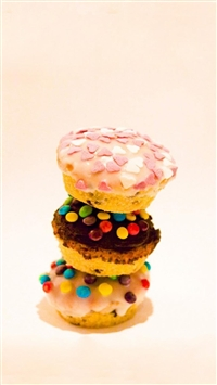 Delicious Colorful Cupcakes iPhone 5s wallpaper