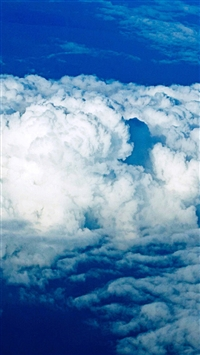 Nature Thick Clouds Skyscape iPhone 5s wallpaper
