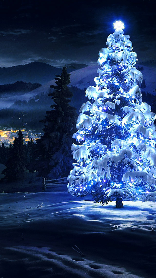 White Christmas Tree Light iphone wallpaper ilikewallpaper com