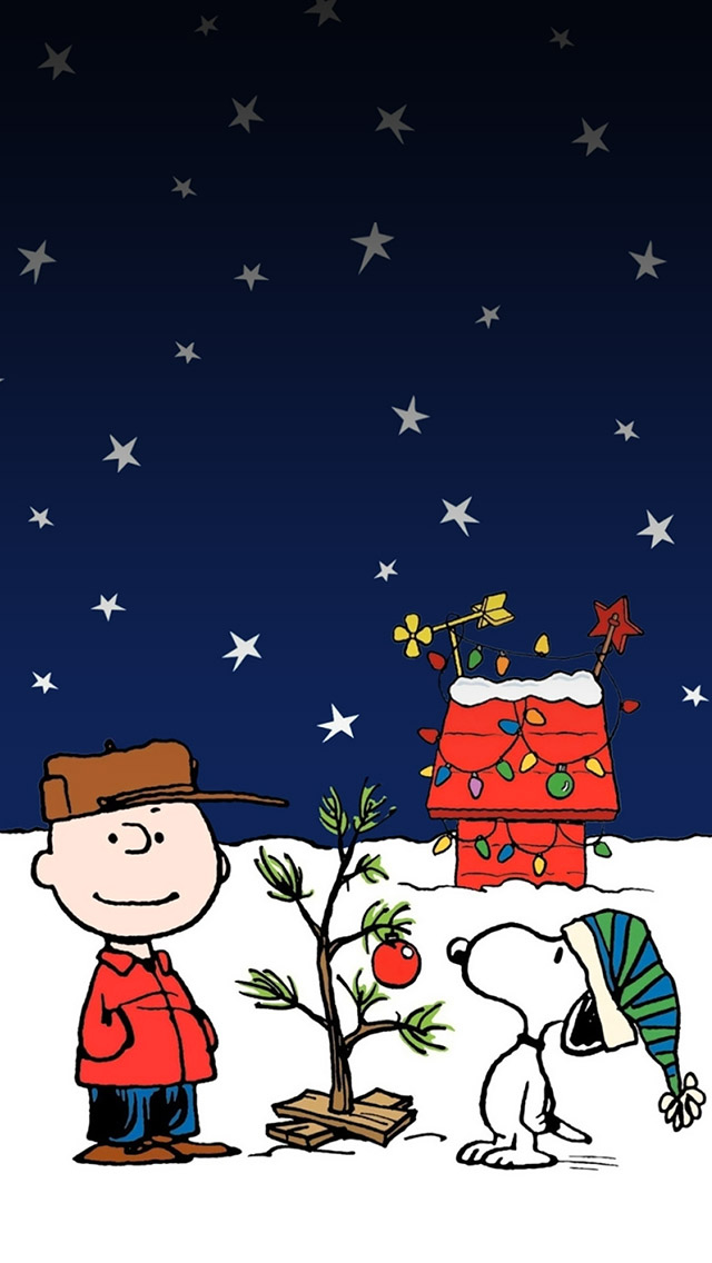 Snoopy Christmas Holiday iPhone wallpaper