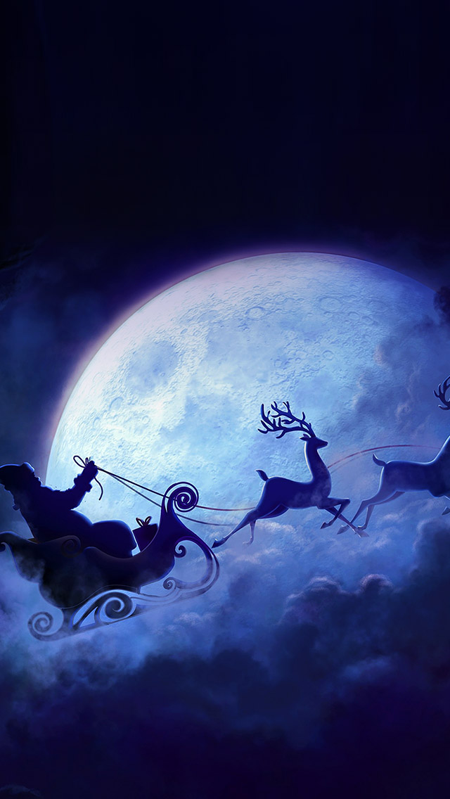 Santa Claus Drive Reindeer Iphone Wallpapers Free Download