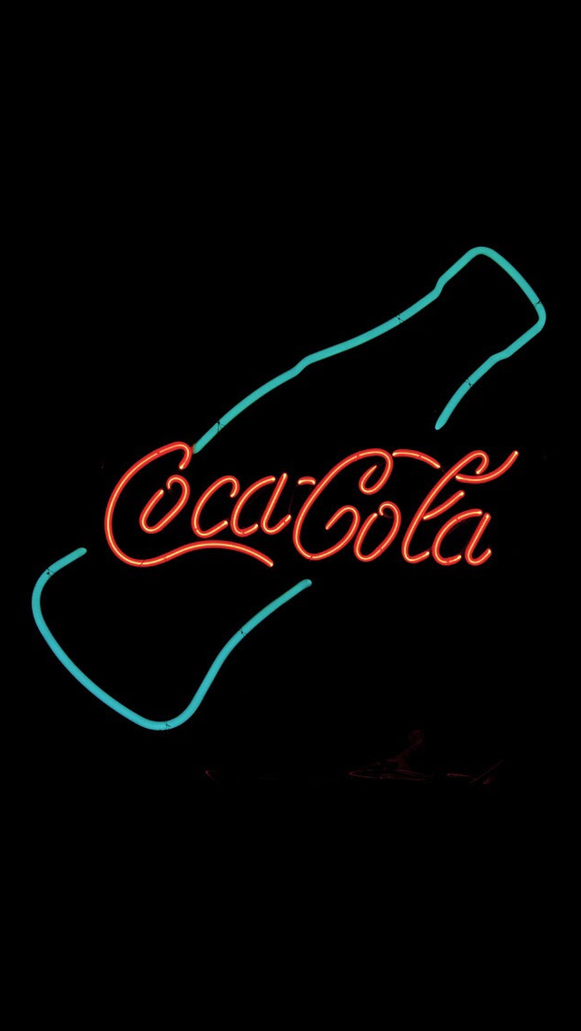 Coca Cola Neon Sign Design Art iPhone wallpaper