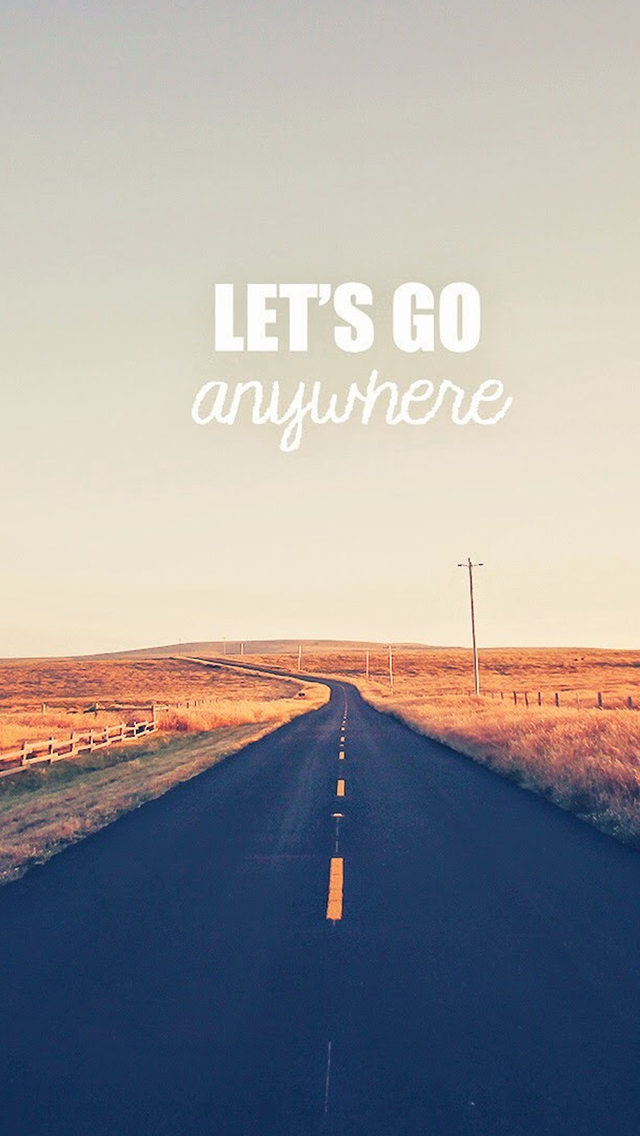 Go Anywhere Road iPhone wallpaper