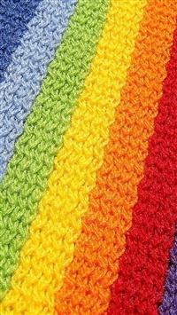 Rainbow Colorful Cloth Stripe iPhone 5s wallpaper