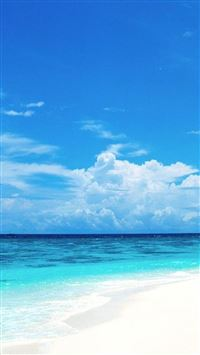 Nature Sunny Bright Beach iPhone wallpaper