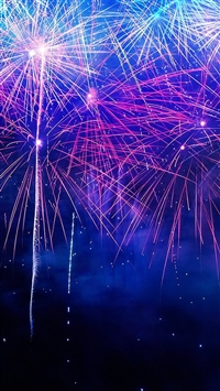 Happy New Year 2015 Fireworks iPhone 5s wallpaper