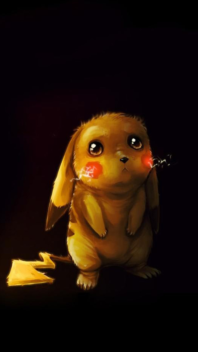 Cute Poor Pikachu iPhone wallpaper