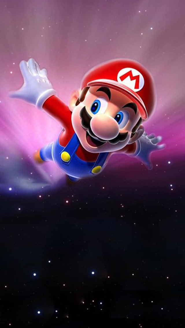 Fantasy Cartoon Super Mario iPhone wallpaper