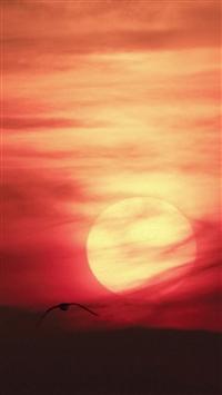 Artistic Red Sunset Desert iPhone 5s wallpaper