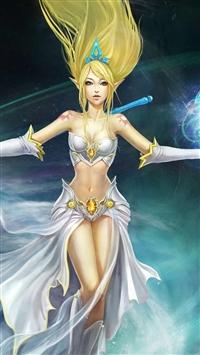 Leagues Of Legend Storm Goddess iPhone 5s wallpaper