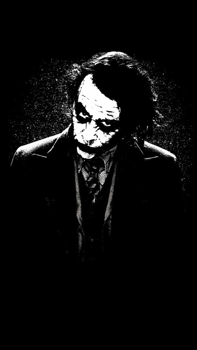 The Joker Batman Black White Painting Art iPhone wallpaper