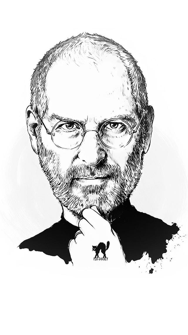 Steve Jobs Portrait Illust Art Iphone Wallpapers Free Download