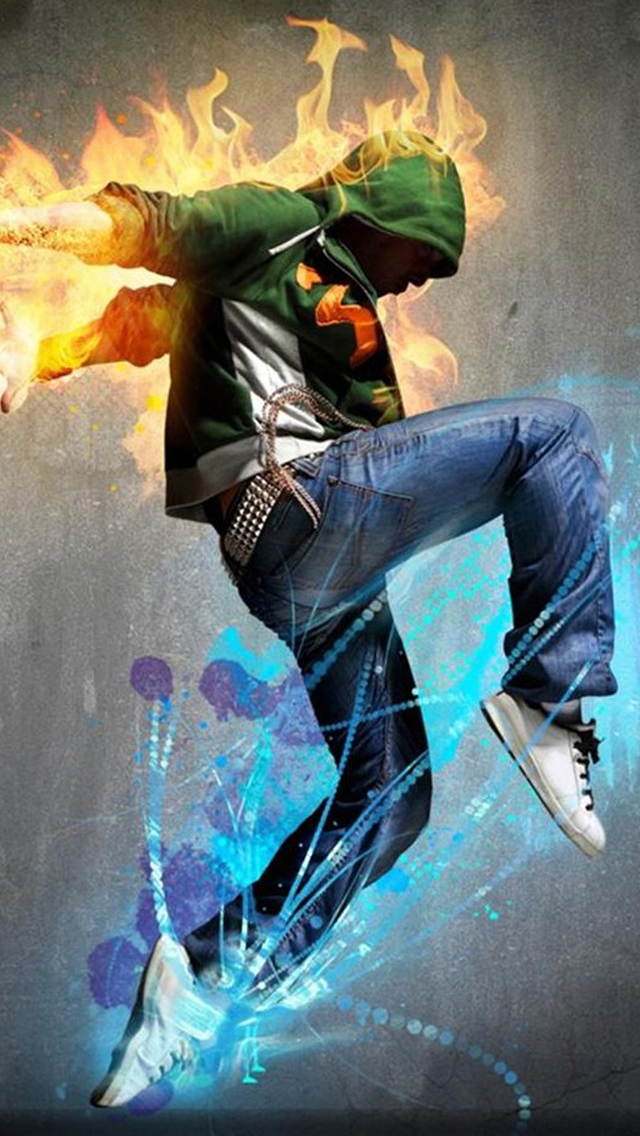 Fire  Hip hop Dancing Sport iPhone wallpaper