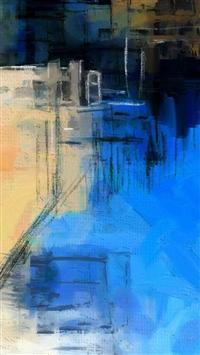 Paint Art Blue Illust Diet Abstract iPhone 5s wallpaper