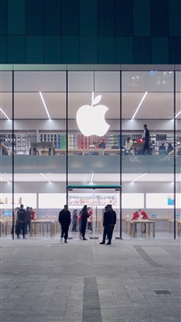Apple Store Front Architecture City iPhone 5s wallpaper