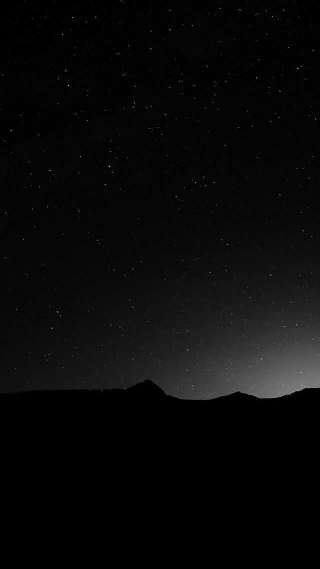 Dark Night Sky Silent Wide Mountain Star Shining iphone wallpaper ilikewallpaper com