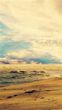 Fantasy Beautiful Seaside Beach Mist Skyscape iPhone 5s wallpaper