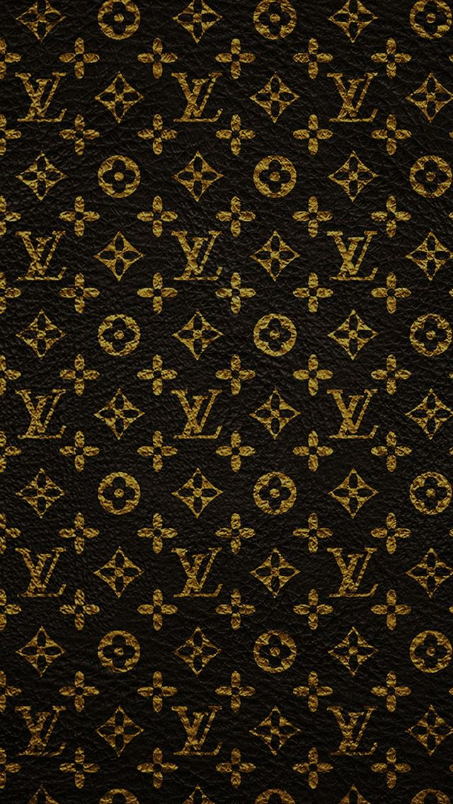 Louis Vuitton Dark Pattern Art iPhone wallpaper