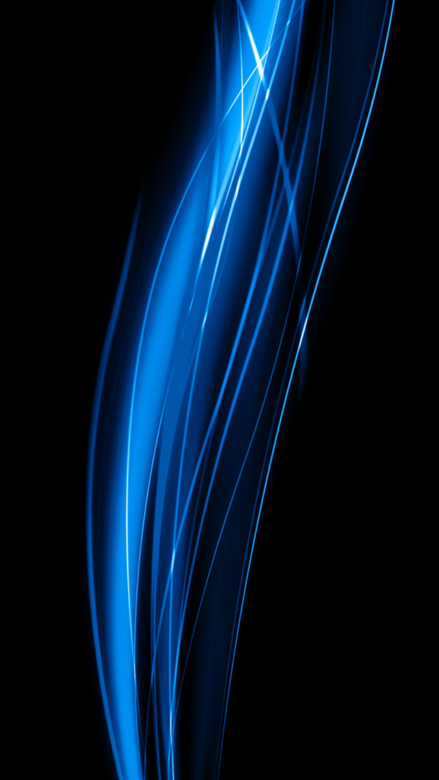Abstract Blue Shiny Wave Swirl Dark Background Iphone