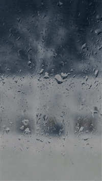 Good To Stay Home Blue Rainy Window Background iPhone 5s wallpaper