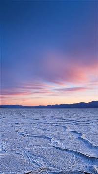 Dead Sea Snow Sunset Mountain Nature iPhone 5s wallpaper