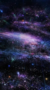 Fantasy Art Star Shiny Nebula Outer Space iPhone 5s wallpaper