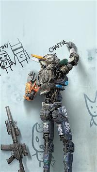 Chappie Robot Art Film Poster iPhone 5s wallpaper
