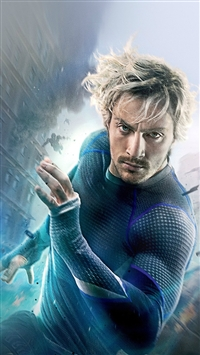 Avengers Age Of Ultron Aaron Taylor Johnson Quicksilver iPhone 5s wallpaper