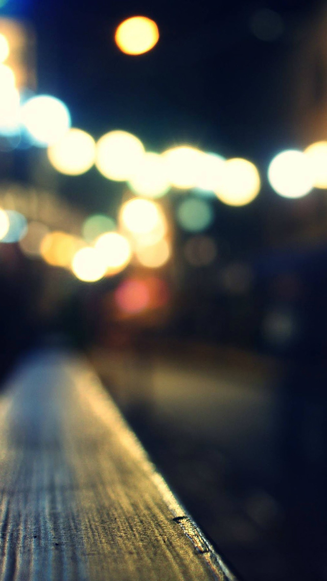 Bokeh Night Street Neon Siren Lights Iphone Wallpapers Free