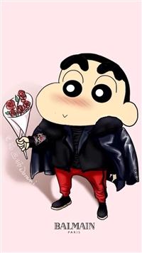Crayon Shin Chan Cute Cartoon iPhone 5s wallpaper