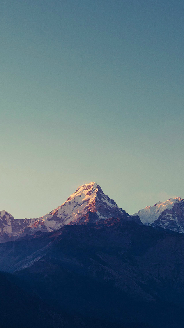 Mountain Blue High Sky Nature Rocky iPhone wallpaper