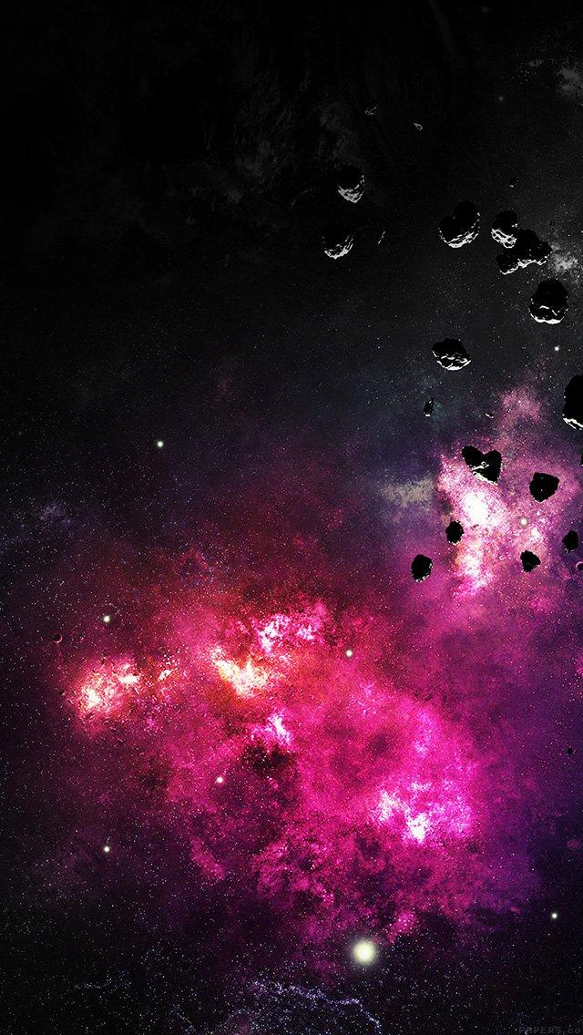 Space Planet Fire Stars Stellar Dark Nature Iphone