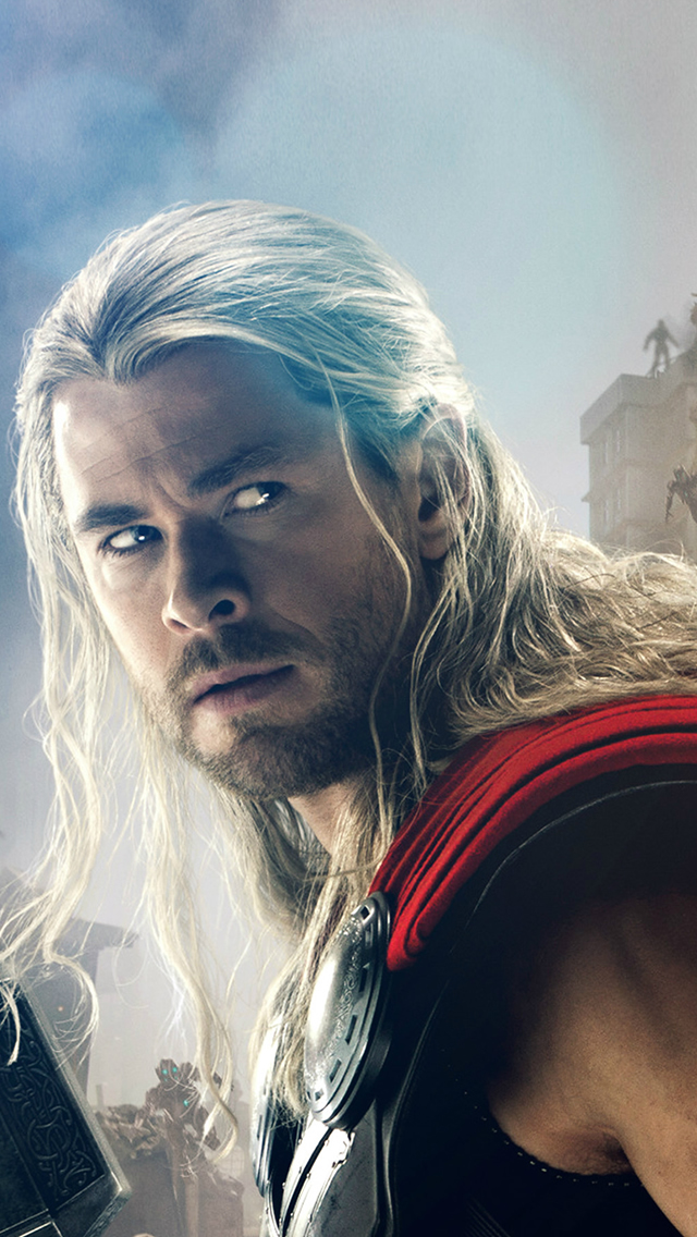 Avengers Age Of Ultron Thor Chris Hemsworth iPhone wallpaper