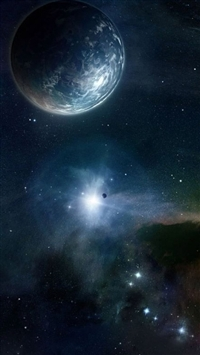 Outer Space Skyview Planet Starry Flare iPhone 5s wallpaper