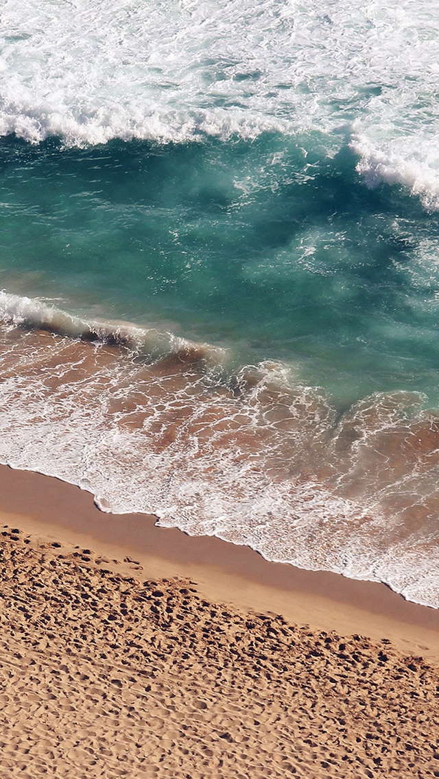Beach Wave Coast Nature Sea Water Summer iPhone wallpaper