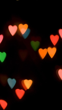 Abstract Colorful Love Light In Dark iPhone 5s wallpaper