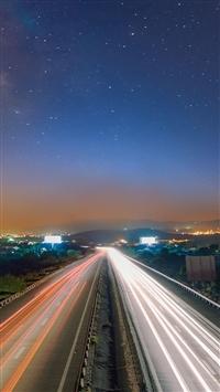 Long Exposure Light Trails iPhone 5s wallpaper