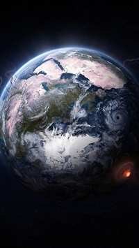 Fantasy Outer Space Earth Planet iPhone 5s wallpaper
