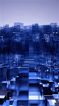 Abstract Fantasy Dimensional 3D Cube Art iPhone 5s wallpaper