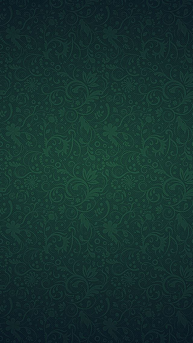 Green Ornaments Texture Pattern iPhone wallpaper