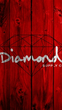 Abstract Diamond Text Art Red Wooden Wall iPhone 5s wallpaper