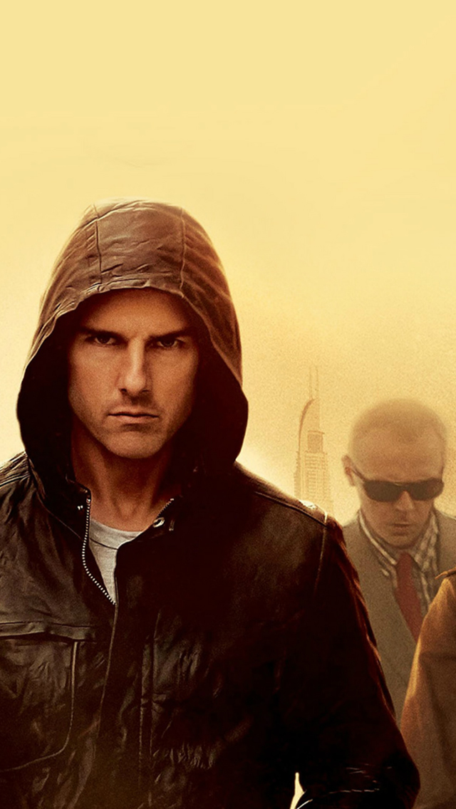 Mission Impossible Tom Cruise Film Art Yellow iPhone wallpaper