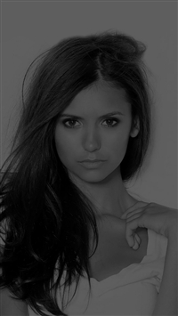 Nina Dobrev Dark Pretty Celebrity Sexy iPhone wallpaper