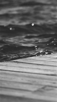 Nature Dark Peace Lake River Dock iPhone 5s wallpaper