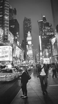 New York Street Night City Dark Vignette iPhone 5s wallpaper