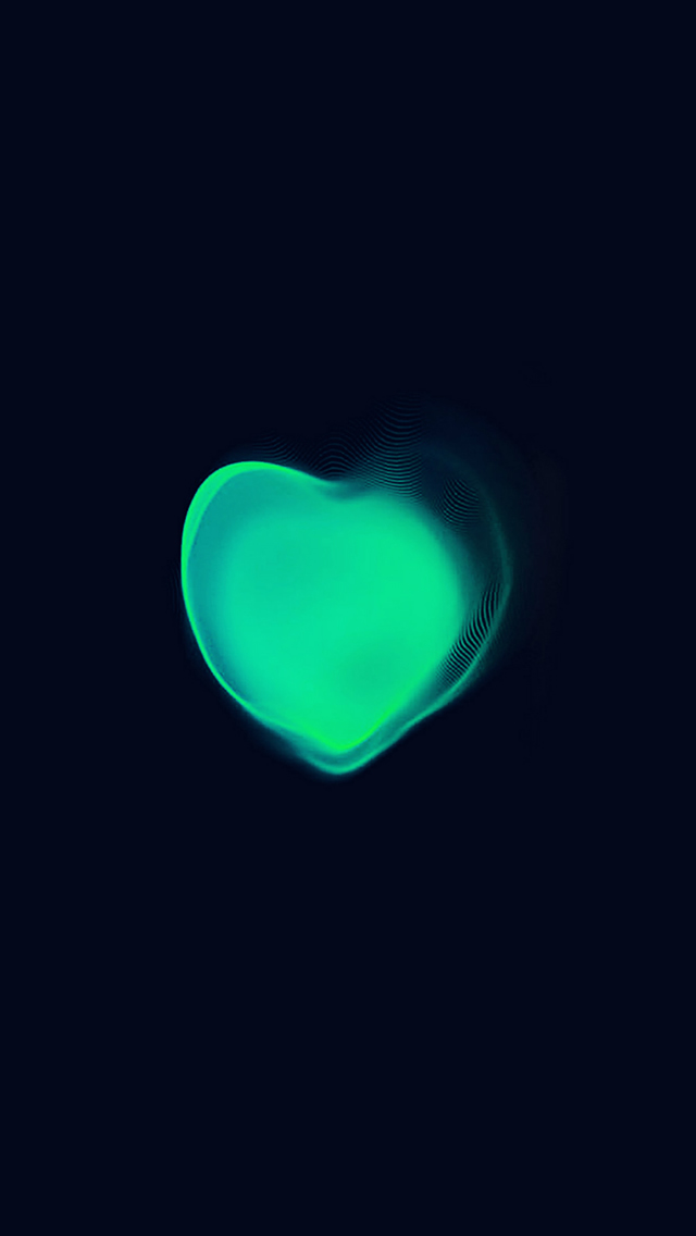 Love Applewatch Art Green Illust Dark iPhone wallpaper