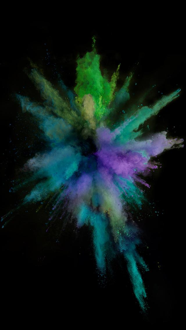 Colorful Smoke Burst Explosion Ios9 Wallpaper Art Iphone