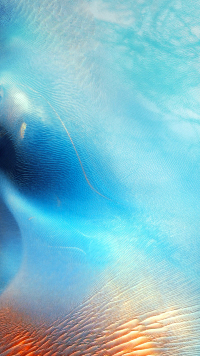Abstract Blue Water Wave Pattern Art iOS9 iPhone wallpaper