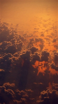 Cloud Sky Fly Sunset Red Nature Flare iPhone 5s wallpaper